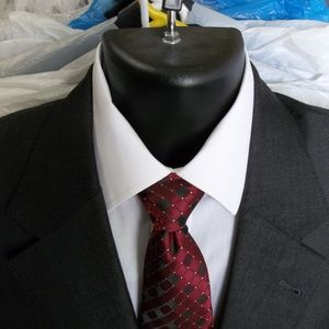 2) Jos A Bank Signature Gold Dk Gray Suit Size 42R